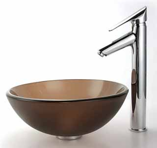 vessel sink and faucet