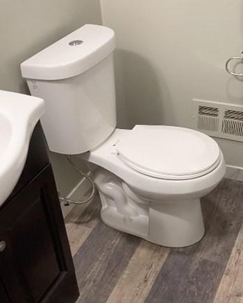 moving bathroom fixtures, toilet