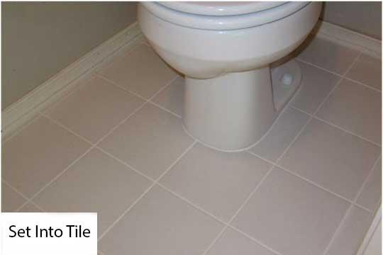 replace toilet set into ceramic tiles
