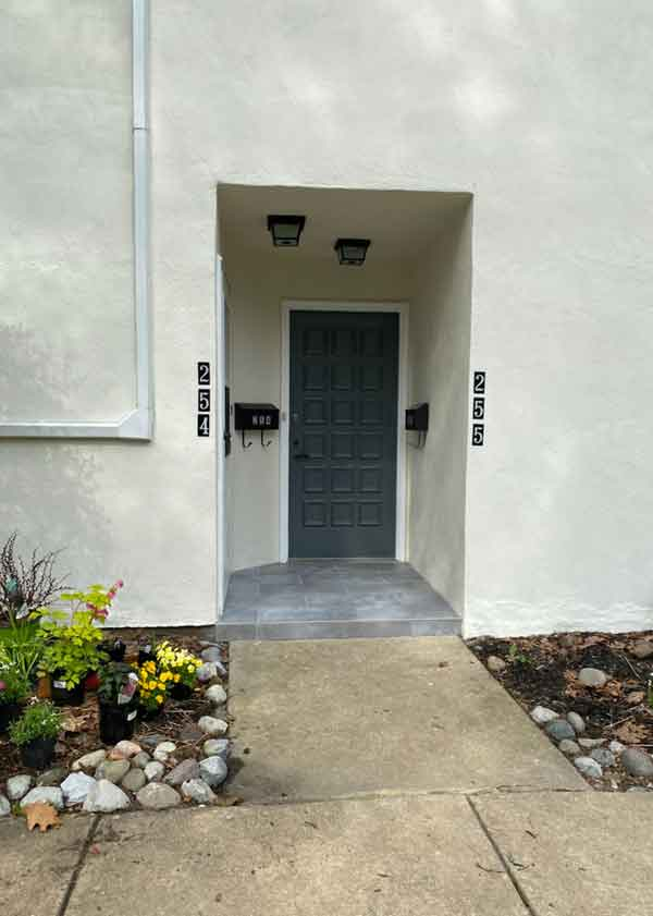 entrance cleanup project