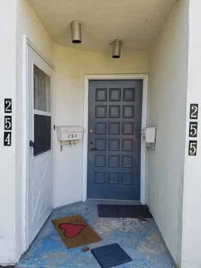 front entrance before